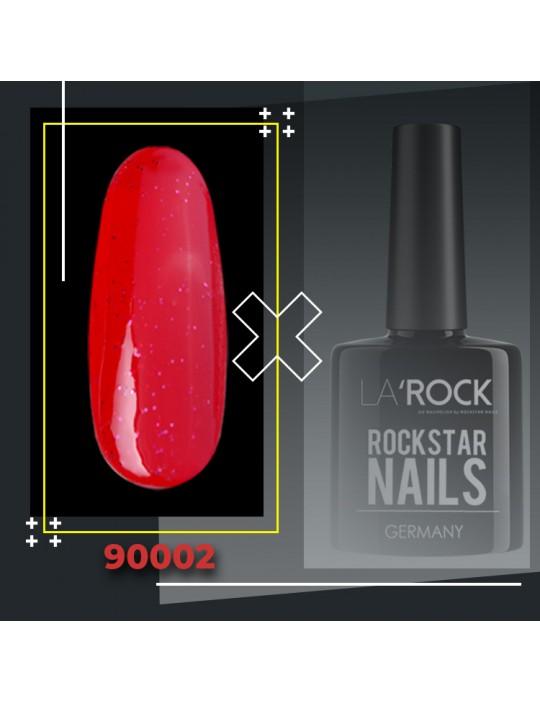 UV Gellack - glitter rosen rot