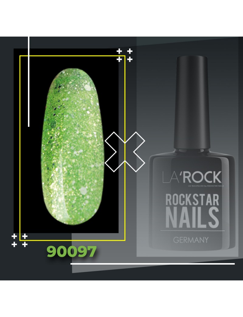 UV Gellack - glitter grün